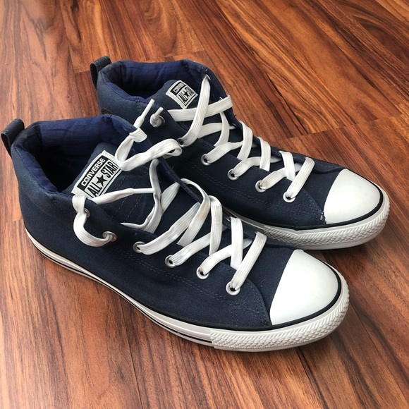 Converse Used Men's Blue Sneakers High Top Size 11